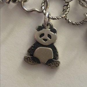 Jame Avery Sterling panda charm
